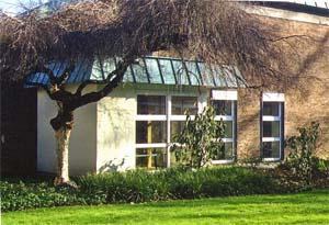 Eingangsbereich des Zendo im Kardinal-Hengsbach-Haus