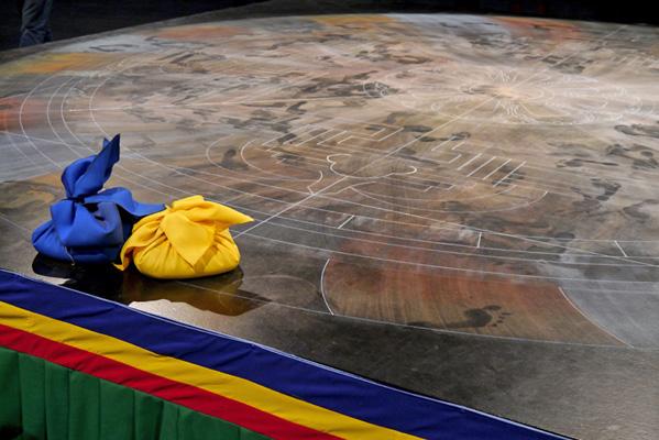 Jahrhunderthalle Bochum: Nach der Zerstörung des Mandala                                                                                                                  Alle Fotos: Rainer Schmidt